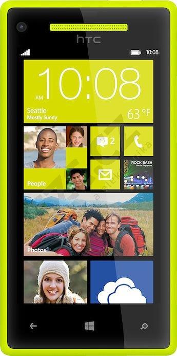 Windows Phone 8X by HTC, žlutá