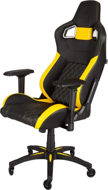 Corsair T1 RACE, černá/žlutá