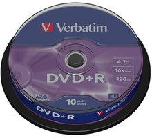 Verbatim DVD+R General 16x 4,7GB spindl 10ks - 43498
