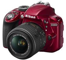Nikon D3300 + 18-55 VR AF-P, červená - VBA391K002
