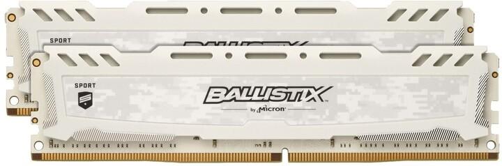 Crucial Ballistix Sport LT White 32GB (2x16GB) DDR4 2666