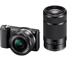 Sony Alpha 5000, černá + objektivy 16-50+55-210mm - ILCE5000YB.CEC