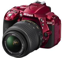 Nikon D5300 + 18-55 VR AF-P, červená - VBA371K004