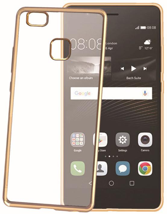 CELLY Laser - lemování s kovovým efektem TPU pouzdro pro Huawei P9 Lite, zlatá