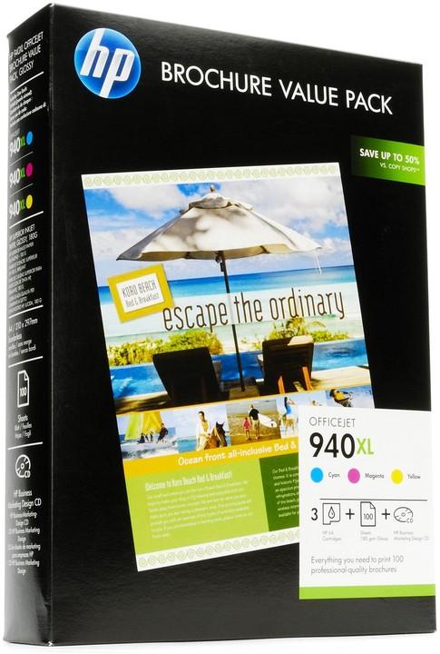 HP sada papíru na brožury HP Officejet řady 940XL, 100 listů, 210 x 297 mm