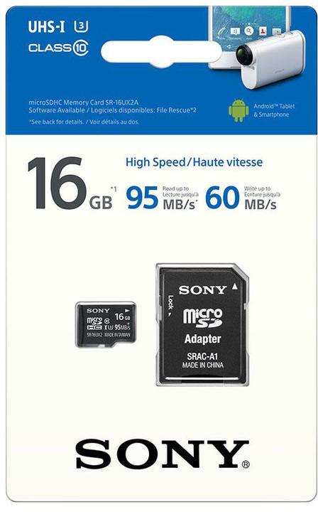Sony Micro SDHC SR16UYA 16GB Class 10