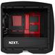 NZXT Manta, černo-červená, okno