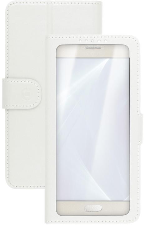 "CELLY View Unica pouzdro typu kniha, velikost XL, 4,5"" - 5"", bílé"