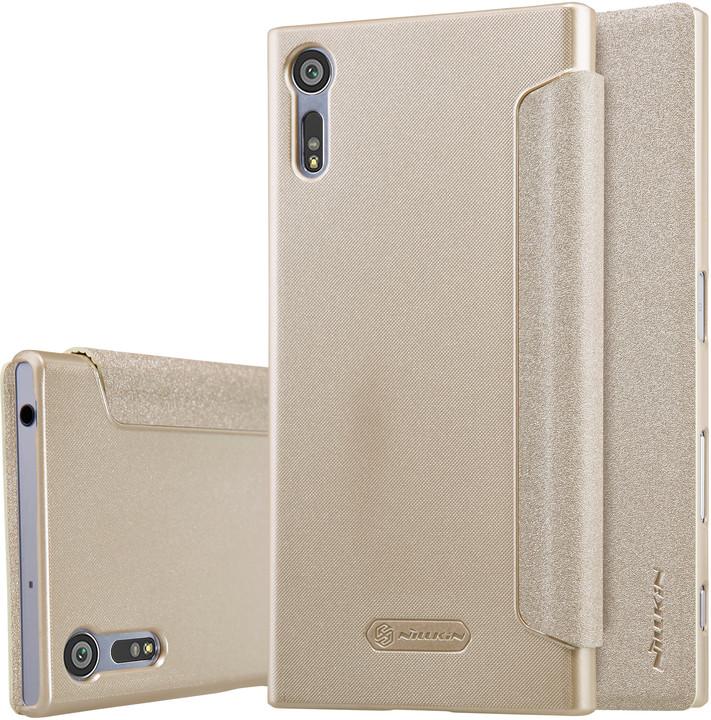 Nillkin Sparkle Folio pouzdro Gold pro Sony F8331 Xperia XZ