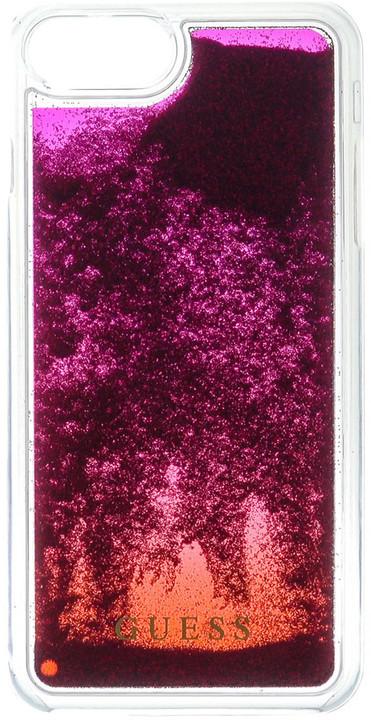Guess Liquid Glitter Hard Pink Degrade pouzdro pro iPhone 7 Plus