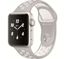 Apple Watch Nike + 38mm Silver Aluminium Case with Platinum / White Nike Sport Band - MQ172CN/A