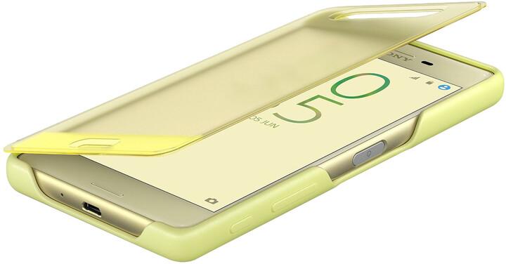 Sony SCR50 Style Cover Touch Xperia X, limetková/zlatá