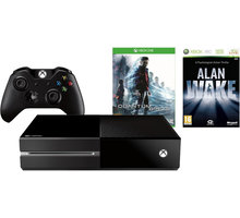 XBOX ONE, 500GB, černá + Quantum Break + Alan Wake - 5C7-00232