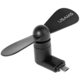 USAMS ZB021 Mobile Phone Fan USB/microUSB, černý