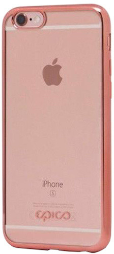 EPICO pružný plastový kryt pro iPhone 5/5S/SE BRIGHT - růžovo-zlatá