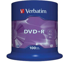Verbatim DVD+R 16x 4,7GB spindl 100ks - 43551