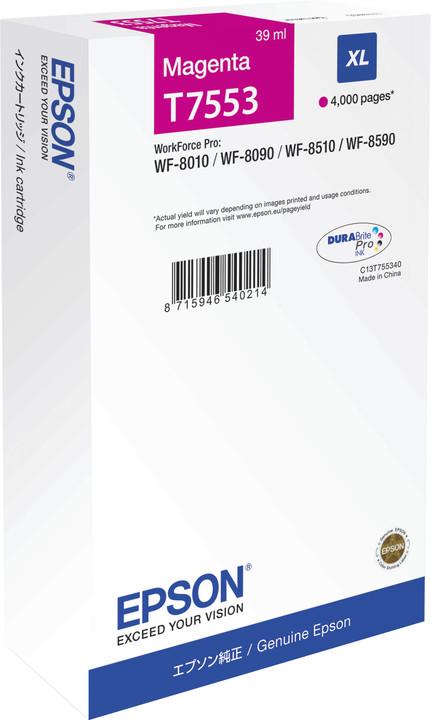 Epson C13T755340, purpurová XL