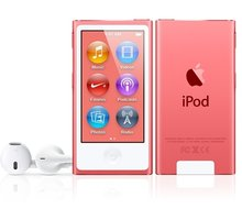 Apple iPod Nano - 16GB, růžová, 7th gen. - MKMV2HC/A