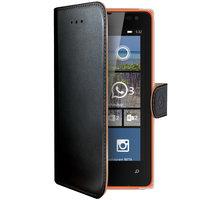 CELLY Wally pouzdro pro Microsft Lumia 532, PU kůže, černá - WALLY485