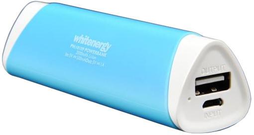 Whitenergy Power Bank 2000mAh 1A Li-Ion, modrá