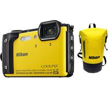 Nikon Coolpix W300, žlutá - Holiday kit - VQA072K001