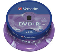 Verbatim DVD+R General 16x 4,7GB spindl 25ks - 43500