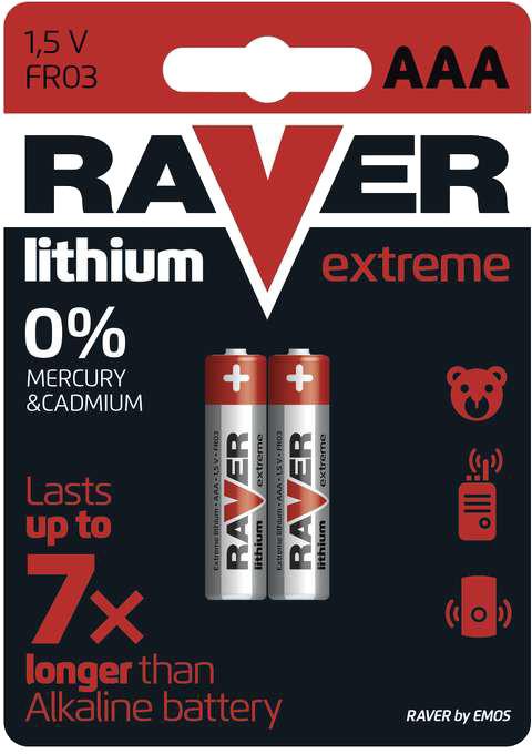 GP Raver, lithium, AAA, 2ks