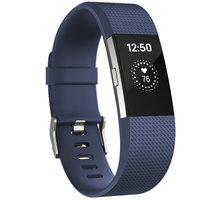 Fitbit Charge 2, S, modrá - FB407SBUS-EU