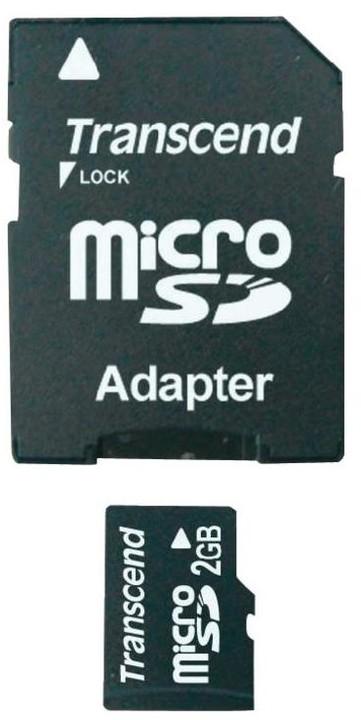 Transcend Micro SD 2GB + adaptér