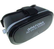 """Patona 3D brýle pro virtuální realitu/ Smartphone 3,5""""-5""""/ černá - PT5024"""