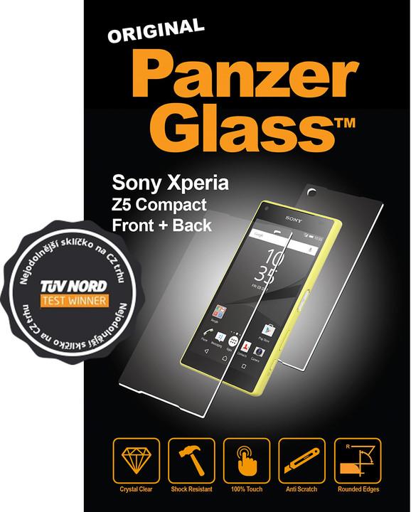 PanzerGlass ochranná sada obrazovky - křišťálově čistá pro Sony Xperia Z5 Compact