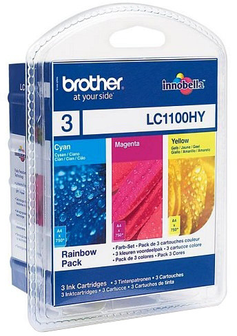 Brother LC-1100HY RBWBP, multipack C+M+Y
