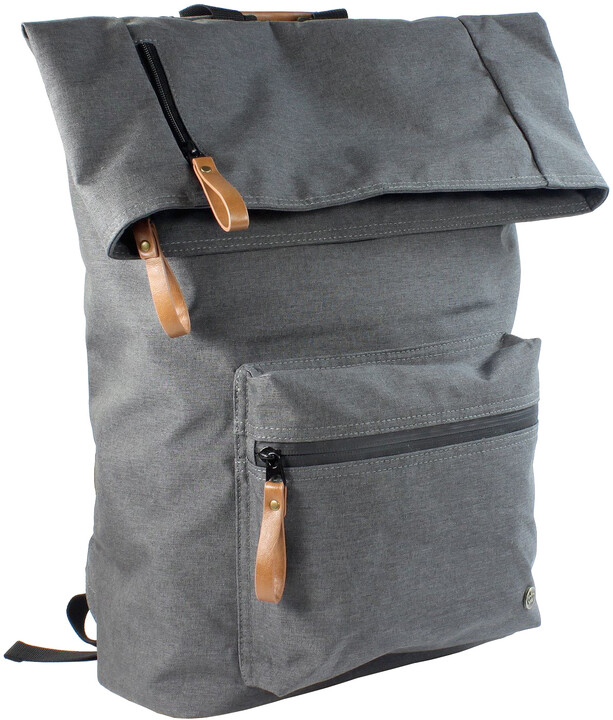 "PKG DRI Rolltop Backpack 15"" - tmavě šedý"