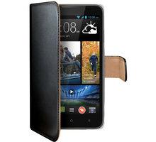 CELLY Wally pouzdro pro HTC Desire 516 Dual SIM, PU kůže, černá - WALLY425