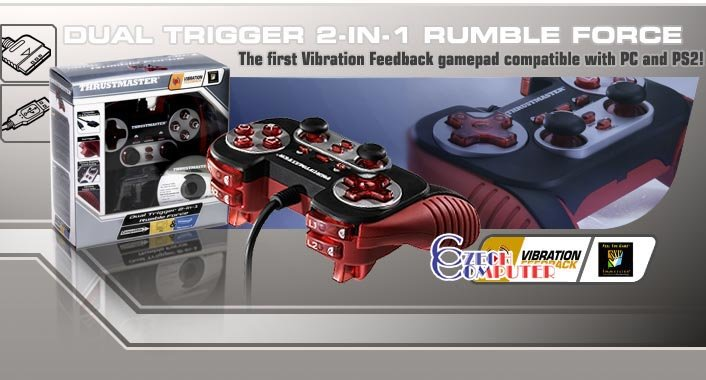 Dual trigger 3 in 1 rumble force