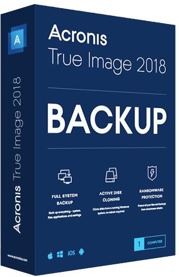 Acronis True Image 2018 ESD CZ pro 1 PC upgrade