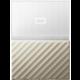 WD My Passport Ultra Metal - 3TB, White/Gold