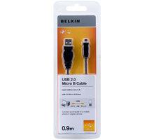 Belkin USB 2.0 kabel A-microB, standard, 0.9 m - F3U151cp0.9M