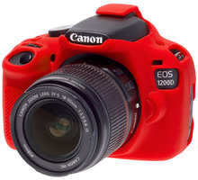 Easy Cover silikonový obal Reflex Silic pro Canon 1200D, červená - ECC1200DR