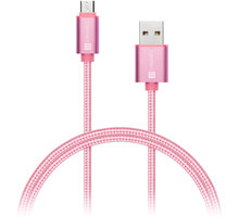 CONNECT IT Wirez Premium Metallic micro USB - USB, rose gold, 1m - CI-967