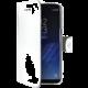 CELLY Wally Pouzdro typu kniha pro Samsung Galaxy S8 Plus, PU kůže, bílé