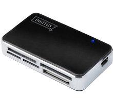 Ednet Micro USB OTG USB Hub a čtečka karet, USB 2.0 hub, čtečka paměťových karet, černá barva - 31516