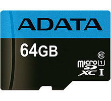 ADATA Micro SDXC Premier 64GB 85MB/s UHS-I U1 - AUSDX64GUICL10 85-R