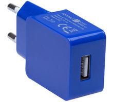 CONNECT IT nabíjecí adaptér 1xUSB port 1 A, modrá - CI-597