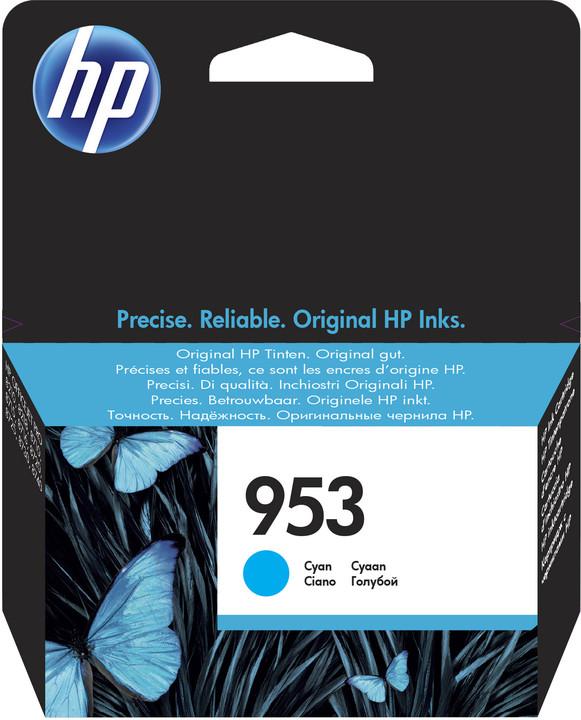 HP F6U12AE, náplň č.953, azurová