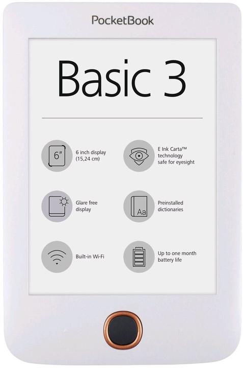 PocketBook 614+ Basic 3, bílá