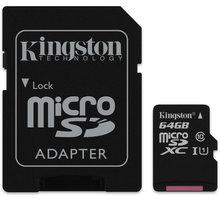 Kingston Micro SDXC 64GB Class 10 + adaptér