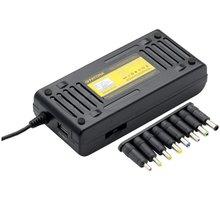 PATONA napájecí adaptér 100W na 240V/ 12V-24V/ USB/ 9 konektorů/ do sítě i auta - PT2536