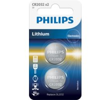 Philips CR2032 - 2ks - CR2032P2/01B