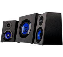 C-TECH Theron GSPK-02, herní, 2.0, černá/modrá + Myš C-TECH Akantha, herní, modré LED, černá v ceně 185 Kč